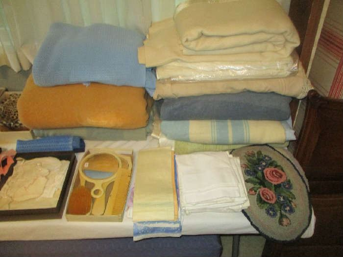 Blankets and assorted items
