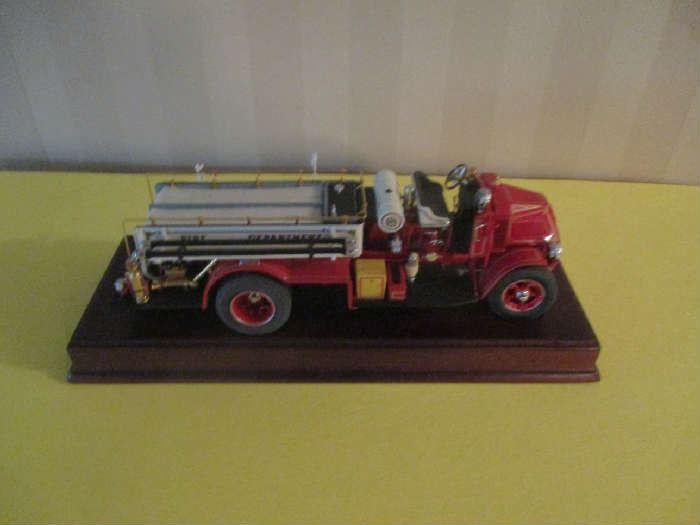Model toy fire truck