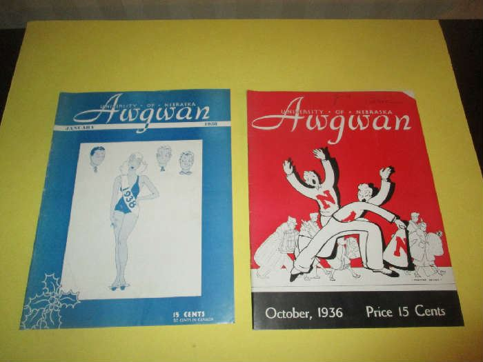 Awgwan Programs, University of Nebraska, 1930's