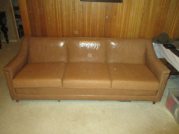 Leather sofa, as-is