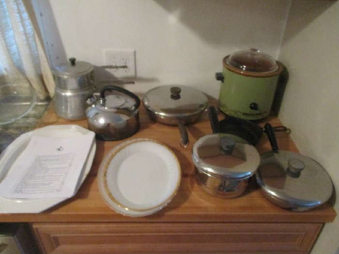 Pots and Pans and kitchen items