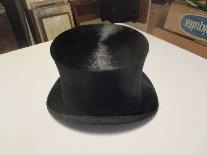 Antique top hat, Dunlap and Company