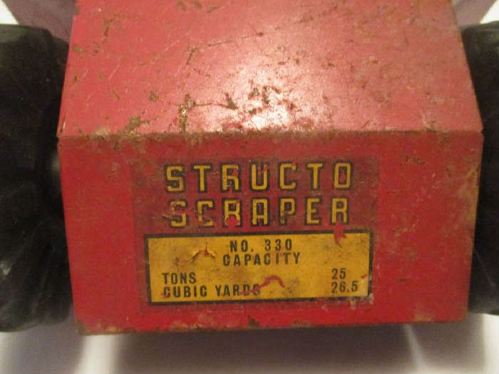 Structo Scraper model 330, antique metal toy