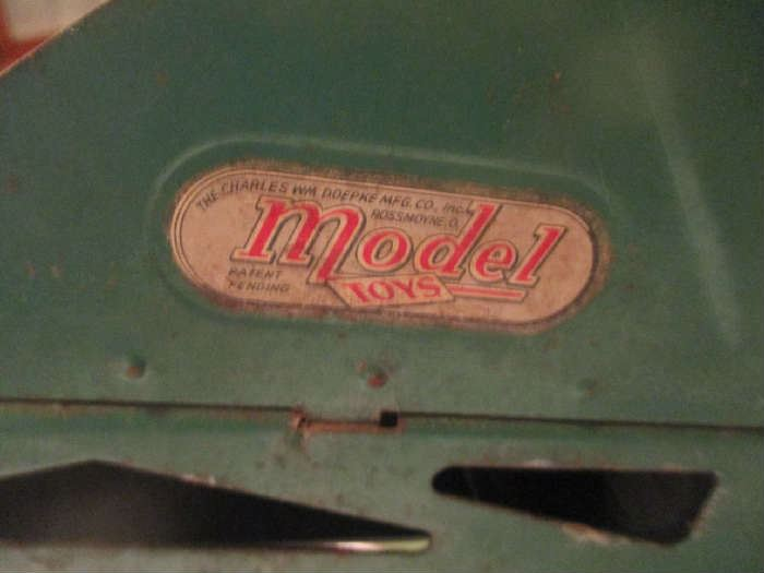 Model Toys, Barber Greene, Metal antique toy