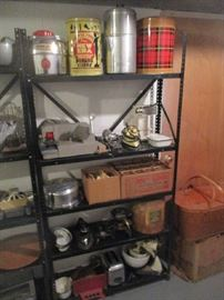 Tins, Coolers and assorted items