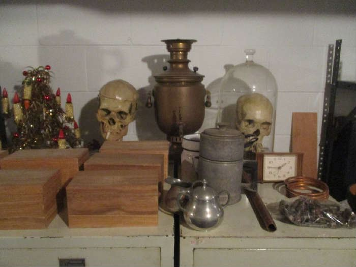 Skulls, Christmas and assorted items