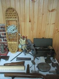 Snowshoes, Military items and gun parts