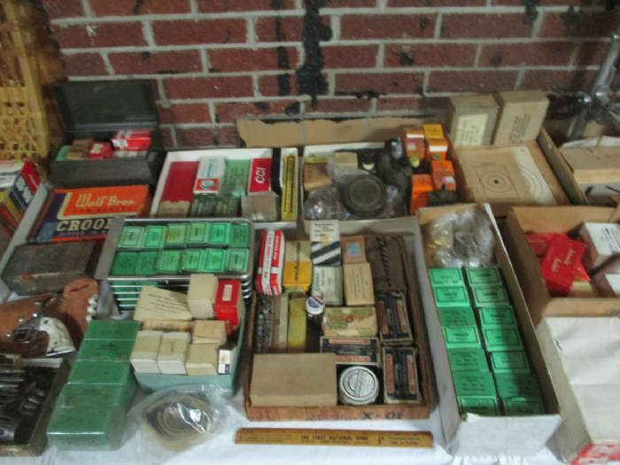 Assorted gun ammo and other items