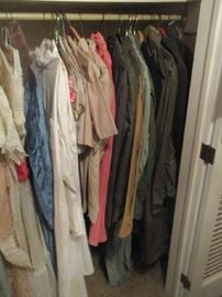 Assorted Dresses and Military clothing