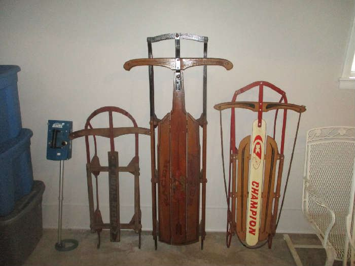 Antique sleds