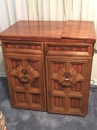 Sewing machine and contents in cabinet - Very nice piece
