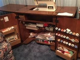 Sewing Cabinet Opened