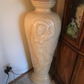 very large figural floor stand