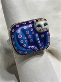 Sergio Bustamante Sterling Ring