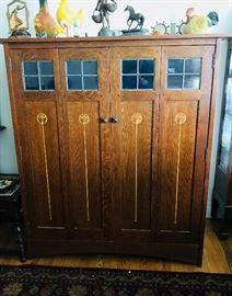 Mission Oak bookcase by Warren Hile Studio