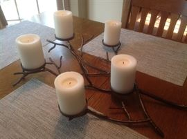 Perfect for fall .....iron branch with 5 candles