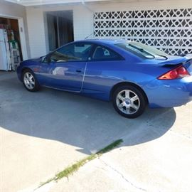 2001 Mercury Cougar C2 coupe 57,000 miles
