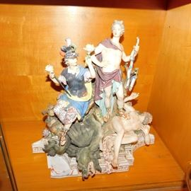 Porcelain Apollo and the Python figure group that is in great condition marked Meissen we believe this maybe an antique replica
