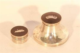 6CUNARD Lines Sterling Inkwell The Imperator