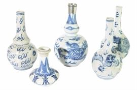 10Lot of Five 5 Antique Chinese Vases
