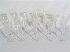 12 Crystal Champagne Stems