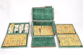 Antique Chinese MahJongg Set