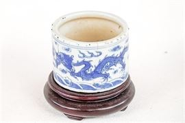 Antique Chinese Porcelain Brush Pot