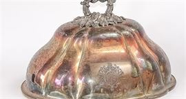 Antique Silver Plated Shefield Food Dome
