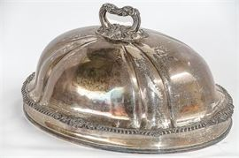 Antique Silver Plated Food Dome