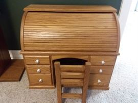 Doll size roll top desk