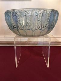 """Lalique """"Perruches"""" Bowl signed R. Lalique"""