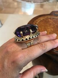 [2 of 2 pics] All jewelry reviewed and detailed by Jewelry Appraiser: 135 CT AMETHYST ON 14K GOLD CUSTOM-MADE. $1,850