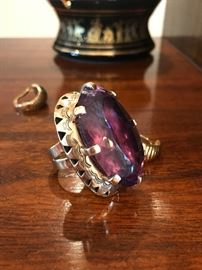 [1 of 2 pics] All jewelry reviewed and detailed by Jewelry Appraiser: 135 CT AMETHYST ON 14K GOLD CUSTOM-MADE. $1,850