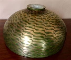 Tiffany Harp floor Lamp Base with a Damascene Shade - will provide more pictures soon!