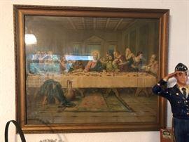 The Last supper vintage framed art