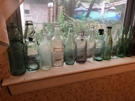 Antique soda/beer bottles