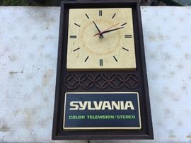 Vintage Sylvania Advertising Clock