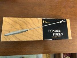 vintage Fondue set and forks