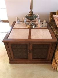 Vintage marble top end table