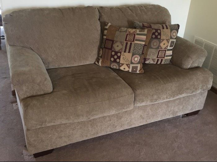 Tan Loveseat