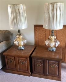 Twin Lamps and End Tables