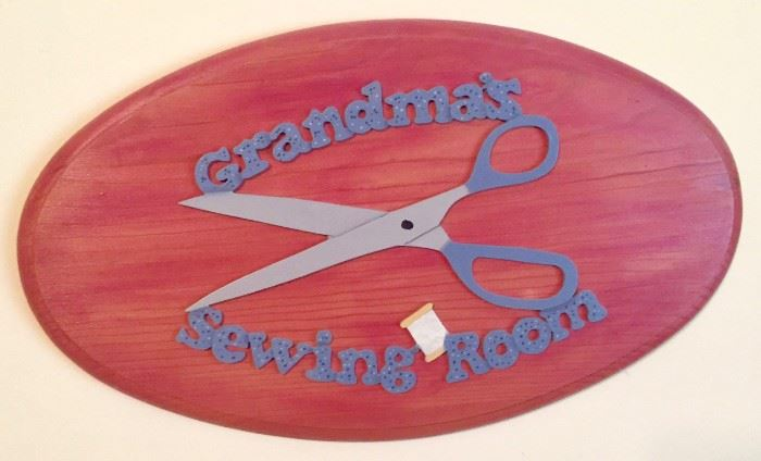 Grandma's Sewing Room Sign