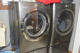 5 YRS. OLD ELECTROLUX WASHER/DRYER WITH EXTRA STORAGE DRAWERS
