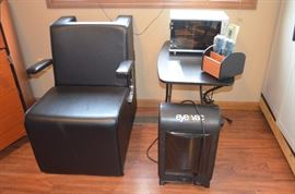 SOLON CHAIR, STERILIZER, EYEVAC, HAIR STATION