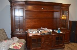 HUGE ENTERTAINMENT CENTER COMES APART IN 7 PIECES