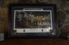 """""""Strategy at Noville"""" by James Dietz with COA- Noville, Belgium -WWII -Military Art numbered"""