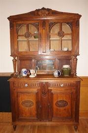 Antique Belgian Vitrine / Bar / China Cabinet