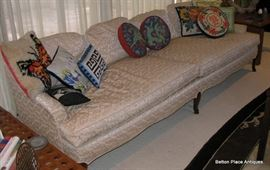 Large 7 foot Decadent Down Filled Sofa