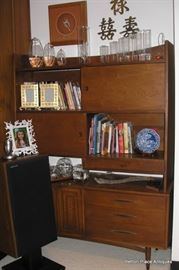 MCM Teak Hutch Bookcase