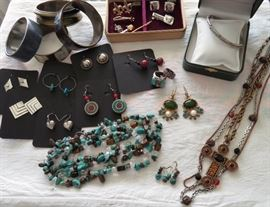 Lots of Mexican Sterling & Designer Signed Jewelry